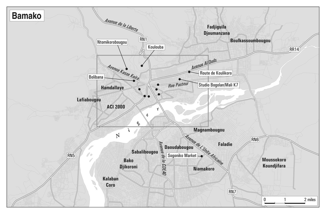 Map of Bamako's Metropolitan Area. Map design by Philip Schwartzberg.